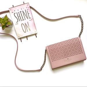 Kate Spade Perforated Pink Crossbody/Clutch